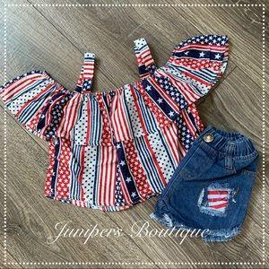 Other - Boutique Patriotic 2pc Outfit